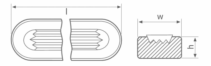 There is a drawing to describe the length, height and width of the reflex gauge glass.