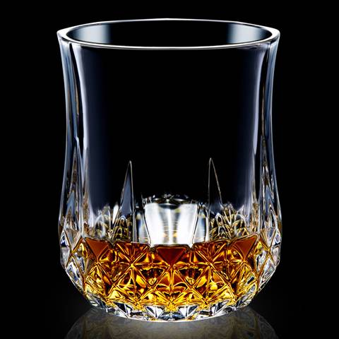 This is a type C whiskey glass cup with whiskey wines.