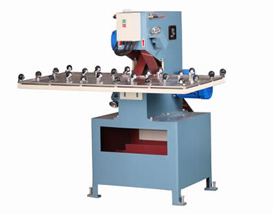 This is a set of glass grinding machine with blue coating.