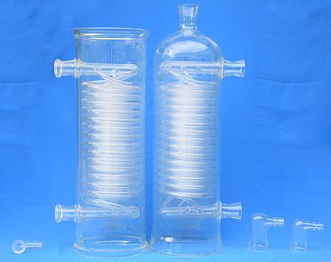 There are two glass coil pipe condensers and accessories.