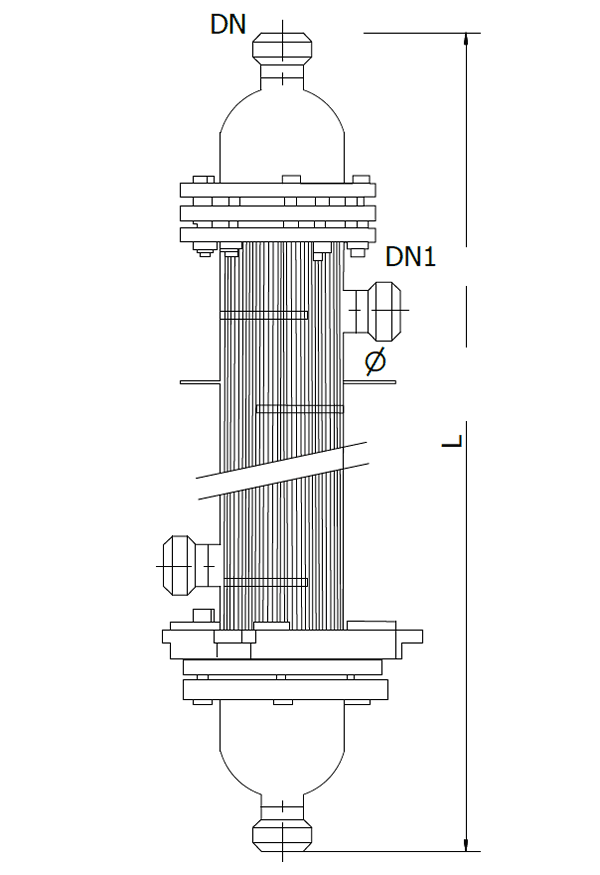 This is the schematic of glass tube condenser sizes.