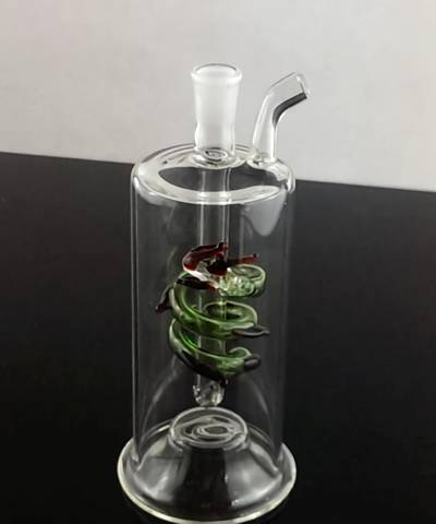 This is a type C single pipe glass hookah.